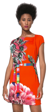 Desigual ženska obleka Septiembre XL večbarvna