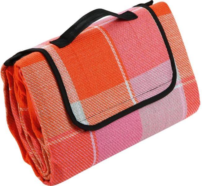 Biederlack Pikniková deka Karo růžová 130x170 cm