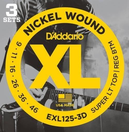 Daddario EXL125-3D Struny pro elektrickou kytaru