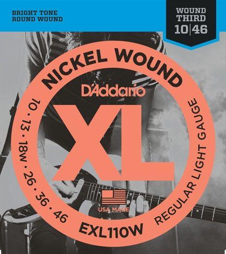Daddario EXL110W Struny pro elektrickou kytaru