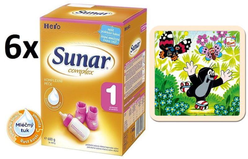 Sunar Complex 1 - 6 x 600g + Puzzle Krtek na bruslích