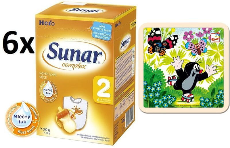 Sunar Complex 2 - 6 x 600g + Puzzle Krtek na bruslích