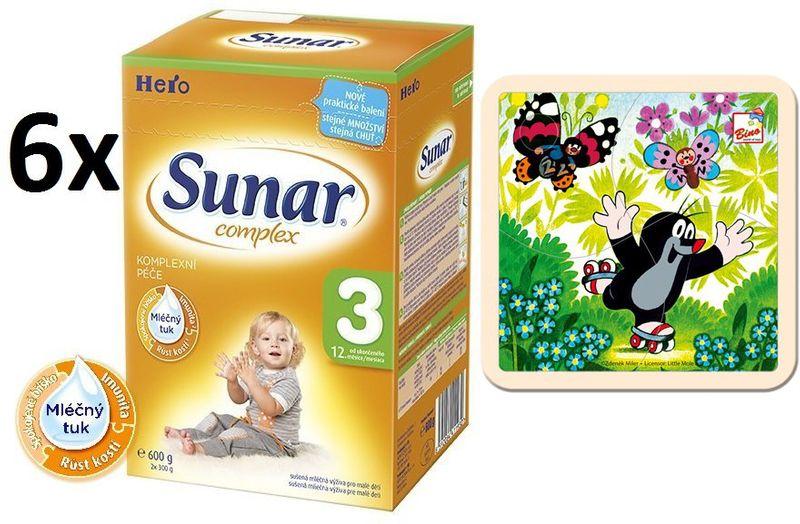 Sunar Complex 3 - 6 x 600g + Puzzle Krtek na bruslích