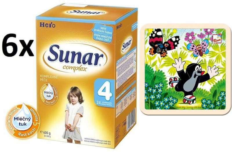 Sunar Complex 4 - 6x600g + Puzzle Krtek na bruslích