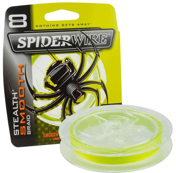 Spiderwire Splétaná šňůra Stealth Smooth 8 150 m žlutá 0,17 mm, 15,8 kg