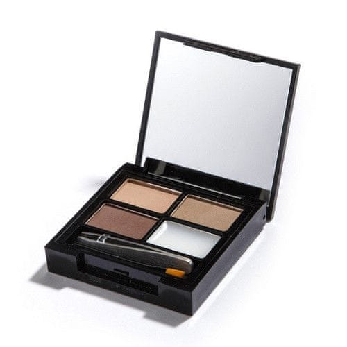 Makeup Revolution Paletka na úpravu obočí Focus & Fix Brow Kit (EyeBrow Shaping Kit) (Odstín Medium Dark)