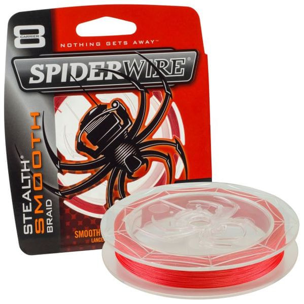 Spiderwire Spiderware Splétaná šňůra Stealth Smooth 8 150 m červená 0,08 mm, 7,3 kg