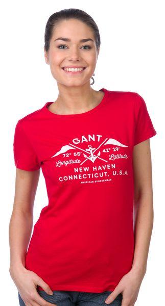 Gant dámské tričko S červená