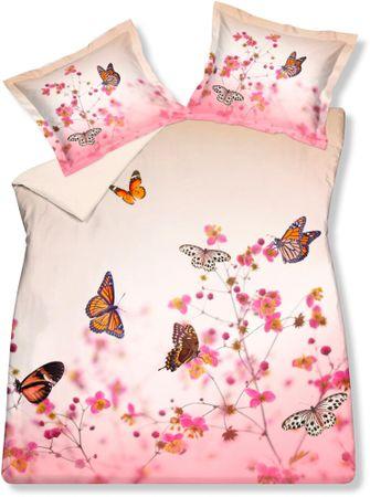 Vandyck Luxusné saténové obliečky Butterfly garden