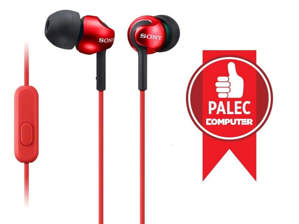 Sony MDR-EX110APR sluchátka s mikrofonem (Red)