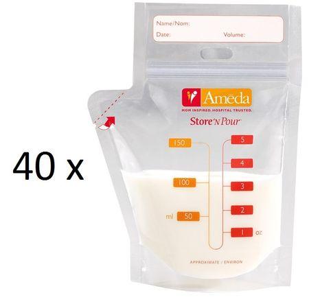 Ameda Sada sáčků na mateřské mléko, 40 ks