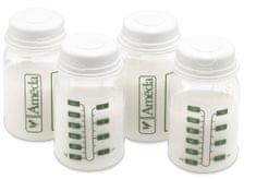 Ameda Sada 4 ks lahviček pro uložení mléka, 120 ml