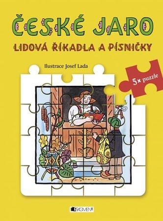 Lada Josef: České jaro - Lidová říkadla a písničky s puzzle