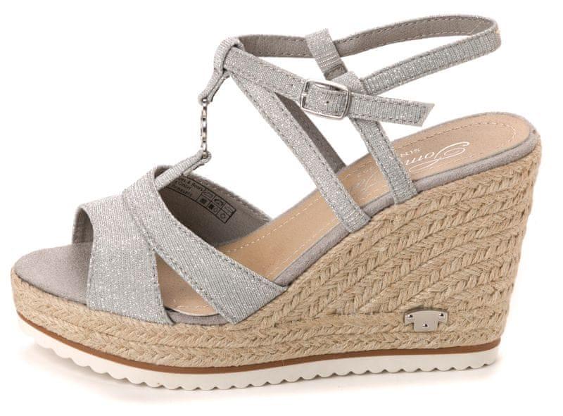 Tom Tailor dámské sandály 41 stříbrná
