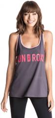 Roxy majica Cutback Tank, ženska, sivo-roza
