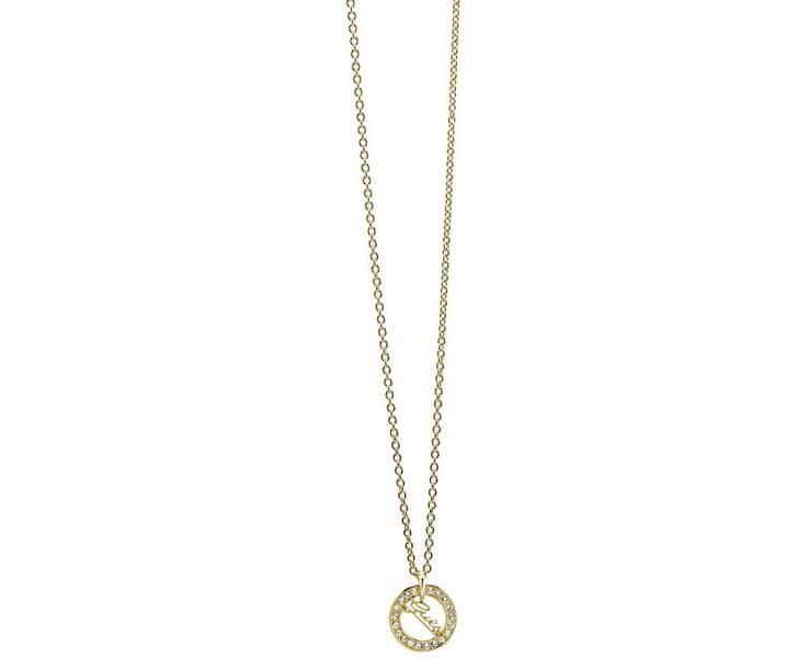 Guess Pozlacený náhrdelník s krystaly UBN21505