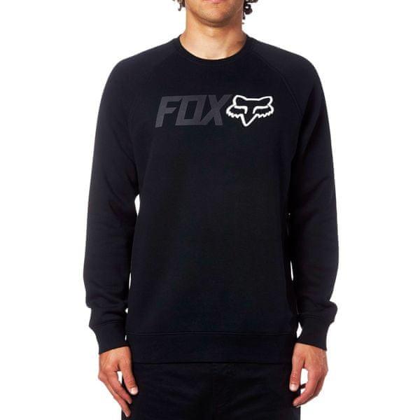 FOX pánská mikina Legacy Crew Fleece M černá