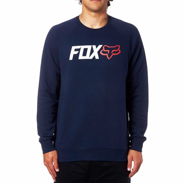 FOX pánská mikina Legacy Crew Fleece L tmavě modrá