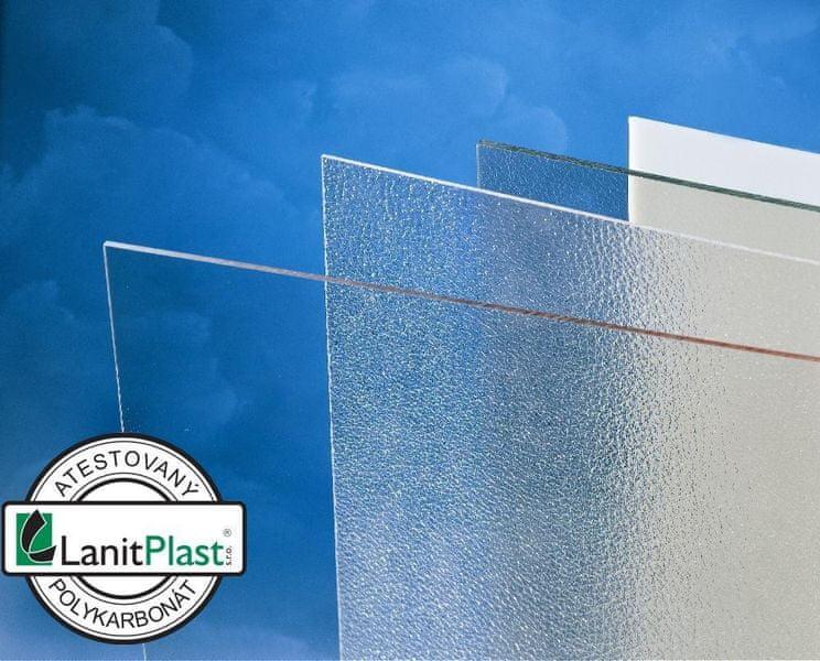 LanitPlast Polykarbonát plný 1,5 mm čirý 1,25x2,05 m