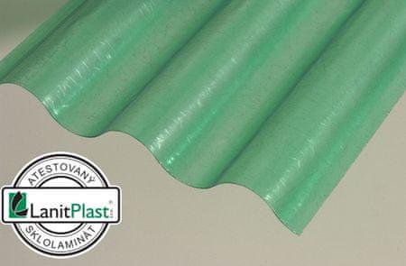 LanitPlast Sklolaminátová role 76/18 výška 2,5 m zelená 23 m