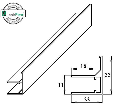 LanitPlast AL ukončovací / okrajový U/F-profil 8 mm 2.10 m