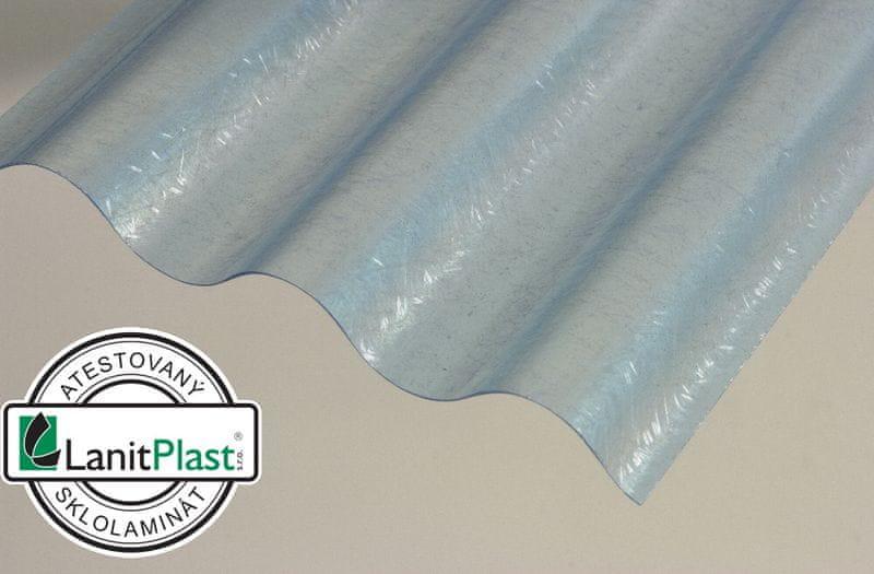LanitPlast Sklolaminátová role 76/18 výška 2,5 m modrá 11 m