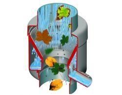 LanitPlast Sběrač dešťové vody RAINBOYs filtrem pro DN 105 hnědá barva