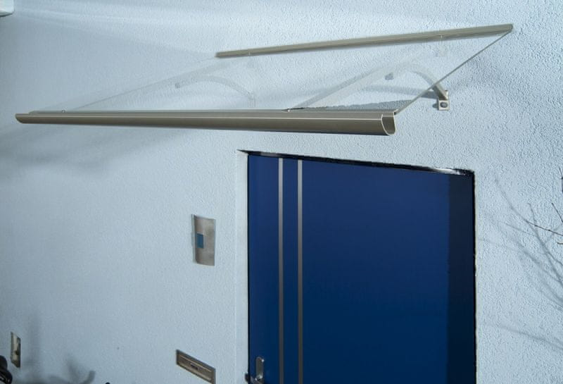 LanitPlast vchodová stříška LANITPLAST OTIS 160/85 stříbrná