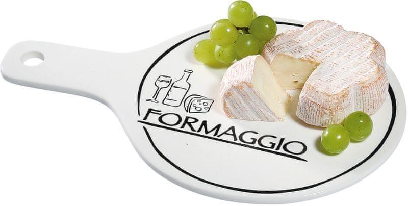 Cilio Porcelánový talíř na sýry s rukojetí