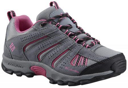 Columbia pohodniški čevlji Youth North, sivi/roza, 32
