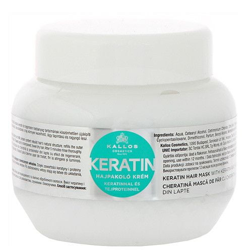 Kallos Regenerační maska na vlasy s keratinem a mléčnými proteiny (Keratin Hair Mask) (Objem 1000 ml)