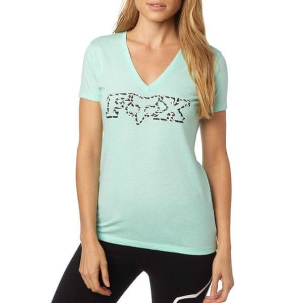 FOX dámské tričko Remained Vneck XS tyrkysová