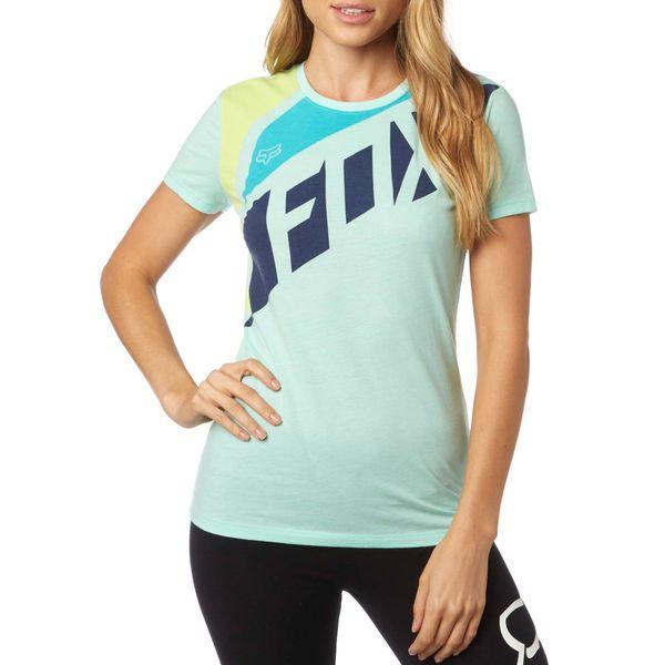 FOX dámské tričko Seca Crew S tyrkysová