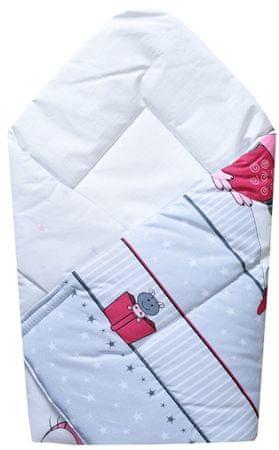 """COSING odeja """"Wrap"""" 80x80 cm, sova, roza"""