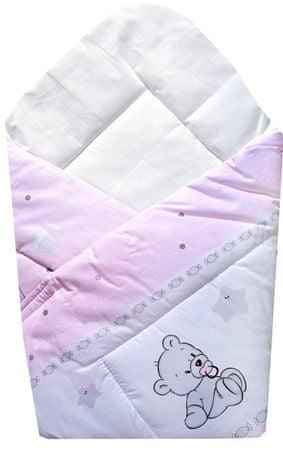 """COSING odeja """"Wrap"""" 80x80 cm, medvedek, roza"""