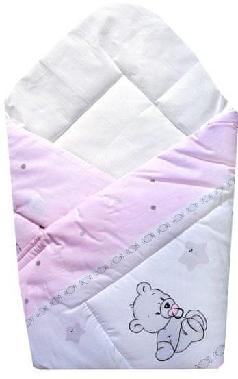 COSING Rychlozavinovačka 80x80 cm - Hrající medvídek, růžová