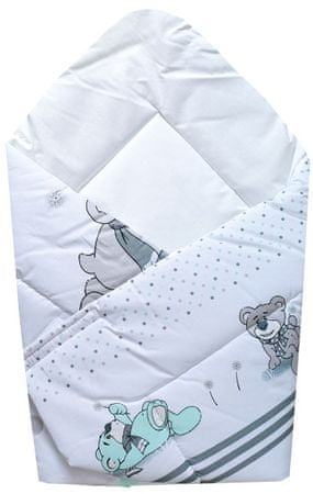 "COSING odeja ""Wrap"" 80x80 cm, medved, belo-siv"