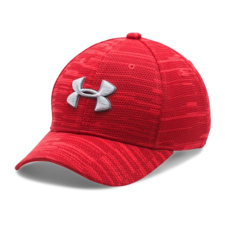 Under Armour Boy's Printed Blitzing Red Maroon Overcast Gray
