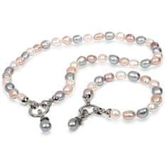JwL Jewellery Súprava náhrdelníku a náramku z pravých perál JL0263