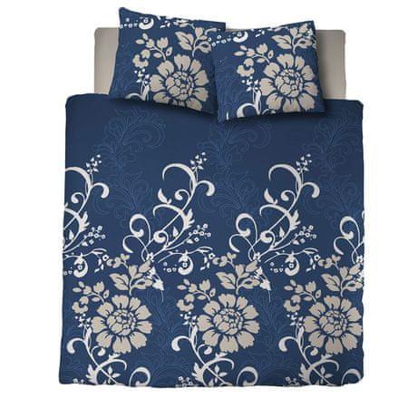 Svilanit bombažna posteljnina Ornaments, modra, 200 x 200 + 2x 60 x 80 cm