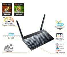 Asus bezdrátový router AC750 (90IG0150-BM3G00)