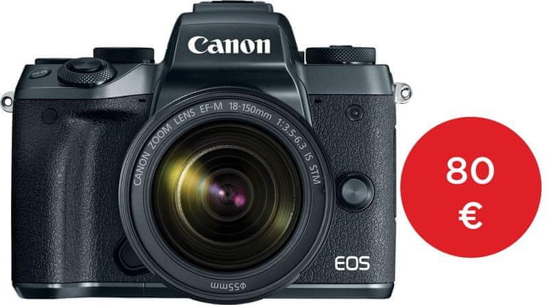 Canon EOS M5 + 18-150 + EF adaptér