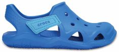 Crocs otroški čevlji Swiftwater Wave, modri