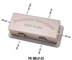 """OmniSwivel Manifold středotlaký 1 port NPT 1/4"""" , 5 portů 3/8"""""""