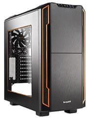 Be quiet! ohišje Silent Base 600, z oknom, midiATX, črno/oranžno (BGW05)