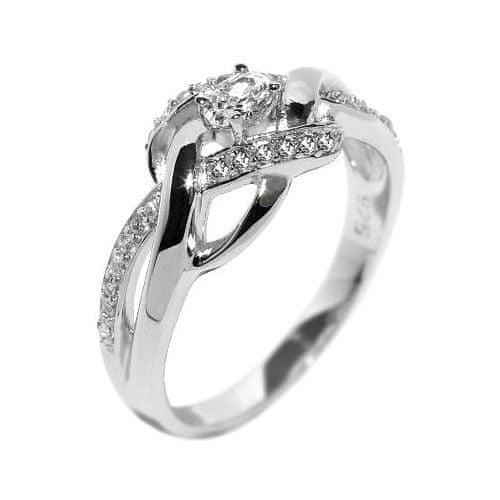 Silvego Elegantní stříbrný prsten EWER02989 (Obvod 52 mm)