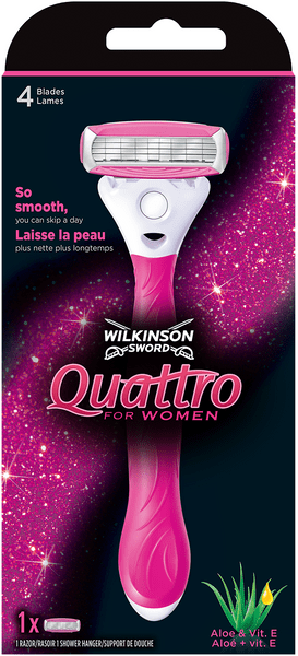 Wilkinson Sword Quattro for Women holicí strojek + 1 hlavice
