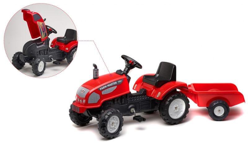 Falk Traktor Farm Master s valníkem červený