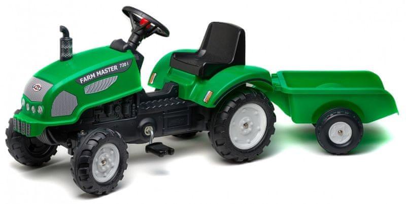 Falk Traktor Farm Master s valníkem zelený