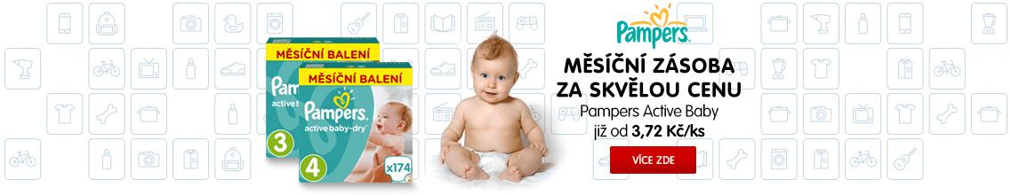 Pampers Pleny Active Baby - Měsíční balení